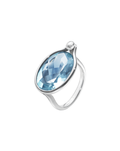 Georg Jensen Savannah Sterling Sølv Ring med Blå Topaz