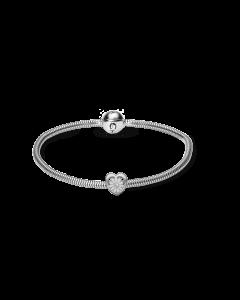 Kræftens Bekæmpelse Sterling Sølv Armbånd fra Christina Watches med Marguerit Charm