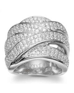S.J Sølv Noci ring med hvide zirkoner