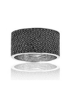 Sif Jakobs Felline sølv ring med sorte zirkoner