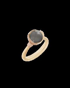 Lotus 18 Karat Guld Ring fra Ole Lynggaard med Grå Månesten