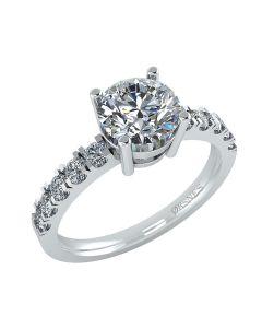 14 Karat Hvidguld Ring fra Henrik Ørsnes Design med Brillanter 1,00 Carat W/SI