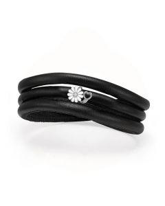 Christina Watches Marguerit Kampagne Læder Charm med Labgrown Diamant