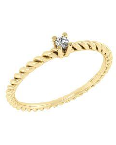 Smykkekæden 14 Karat Guld Ring med Brillant DMN0345YG