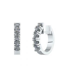 Creol 14 Karat Hvidguld Øreringe fra Henrik Ørsnes Design med Diamanter 1,33 Carat TW/SI