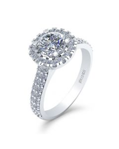 Smykkekæden 14 Karat Hvidguld Ring med Diamanter 1,28 Carat W/SI