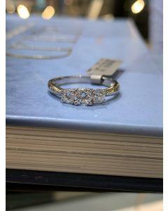 Smykkekæden 14 Karat Hvidguld Ring med Brillanter 0,60 Carat TW/SI
