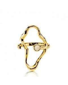 Shiny Gold Forgyldt Sølv Ring fra Sistie