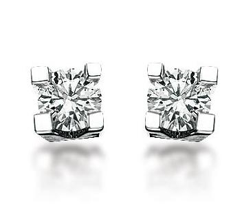 Diamant øreringe